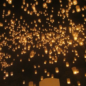 Loy Krathong and Ye Peng Lanterns Thailand